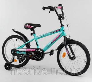 """Детский велосипед CORSO EX-18"""" N Aerodynamic бирюзовый"""