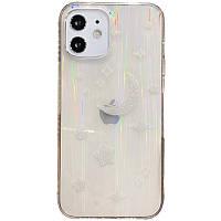 """Стеклянный чехол на iPhone 11 (6.1"""") Aurora Space TPU+Glass / Месяц"""