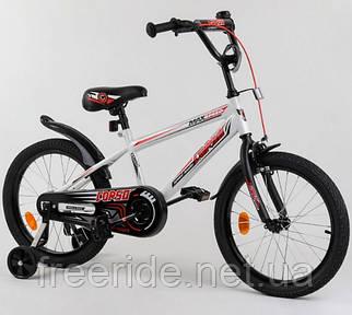 """Детский велосипед CORSO EX-18"""" N Aerodynamic белый с красным"""