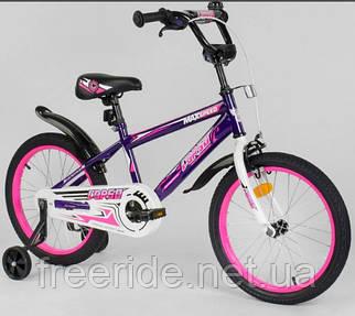 """Детский велосипед CORSO EX-18"""" N Aerodynamic фиолетово-розовый"""