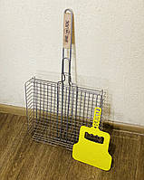 Решетка сетка для гриля барбекю нержавеющая сталь Grand Picnic 390*350 мм