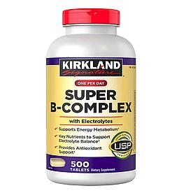Kirkland Signature Super B-Complex - Комплекс витаминов группы В с электролитами (500табл.)