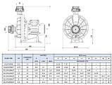 Насос PG PUMPEX-JET для водопада и массажных устройств, 30-32м3 / ч, 220В, 2,24кВт, 3HP, фото 2