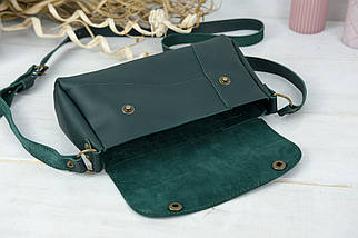 Жіноча сумка Френкі, шкіра Grand, колір Зелений, фото 3