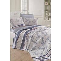 Покрывало пике Eponj Home вафельное 200х235 голубой NН254670
