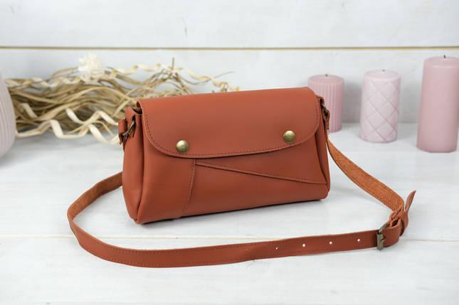 Жіноча сумка Френкі, шкіра Grand, колір Коньяк, фото 2