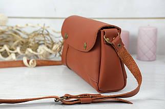 Жіноча сумка Френкі, шкіра Grand, колір Коньяк, фото 3