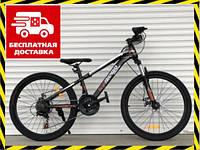 Спортивный подростковый велосипед Топ Райдер 14 рама 24 дюймов колеса коричневый