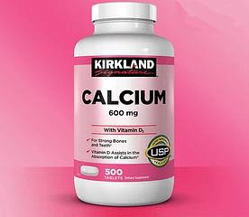 Kirkland Signature Calcium with Vitamin D3 600mg - Кальций с Витамином D3 600мг (500табл.)