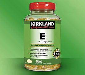 Kirkland Signature Vitamin E (400 IU) - Витамин Е 180мг (500табл.)