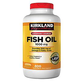 Kirkland Signature Fish Oil 1000mg - Рыбий жир 1000мг (400табл.)