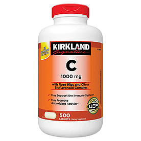 Kirkland Signature Vitamin C 1000mg - Витамин C 1000мг (500табл.)