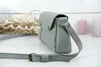 Женская сумка Френки, кожа Grand, цвет Серый, фото 3