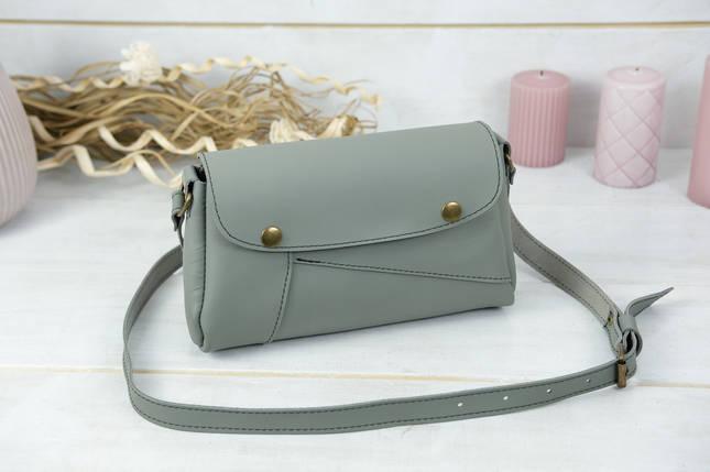 Женская сумка Френки, кожа Grand, цвет Серый, фото 2