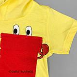 Комплект 2в1,футболка с капюш+шорты Жёлтый Интерлок 0233 Babydadoss Турция 74(р), фото 3