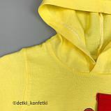 Комплект 2в1,футболка с капюш+шорты Жёлтый Интерлок 0233 Babydadoss Турция 74(р), фото 2