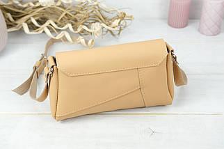 Женская сумка Френки, кожа Grand, цвет Бежевый, фото 2