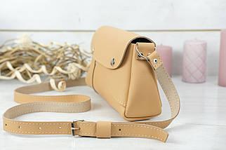 Женская сумка Френки, кожа Grand, цвет Бежевый, фото 3