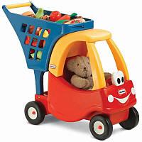 Дитячий візок для продуктів з коляскою для ляльок Little Tikes для дітей, фото 1