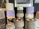 Аромо свеча в кашпо, свеча с деревянным фитилем, призма большая, фото 7