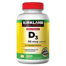Kirkland Signature Vitamin D3 50mcg (2000 IU) - Витамин D3 50mcg (2000 IU) (600табл.)
