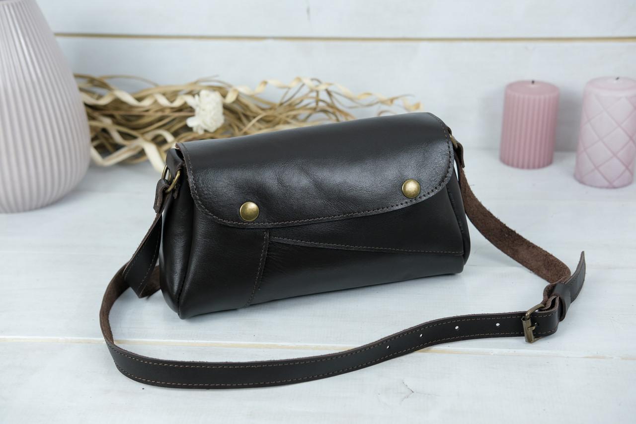 Женская сумка Френки. гладкая кожа, цвет Шоколад