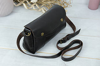 Женская сумка Френки. гладкая кожа, цвет Шоколад, фото 2