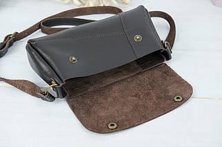 Женская сумка Френки. гладкая кожа, цвет Шоколад, фото 3