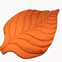 Коврик-листик XL 125*85 см, Ярко-оранжевый/графит, хлопок/сатин