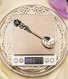 Серебряная ложка для сахара в дизайне Хильдесхаймская Роза, серебро, 800 проба, Германия, Christoph Widmann, фото 10
