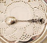 Серебряная ложка для сахара в дизайне Хильдесхаймская Роза, серебро, 800 проба, Германия, Christoph Widmann, фото 9