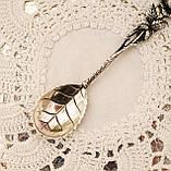 Серебряная ложка для сахара в дизайне Хильдесхаймская Роза, серебро, 800 проба, Германия, Christoph Widmann, фото 4