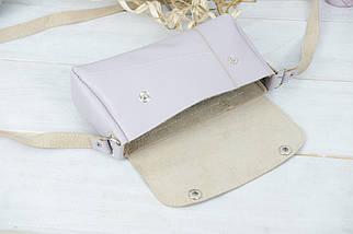 Жіноча сумка Френкі. гладка шкіра, колір Бузковий, фото 3