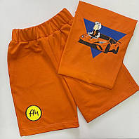 Комплект летний мерч Влад А4 Бумага футболка/шорты