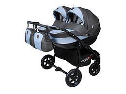 Детская коляска для двойни 2 в 1 Angelina Viper Duo Smart  графитово-серый 13