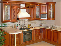 Кухни на заказ дерево недорого киев