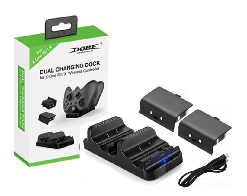 Док-станция DOBE + 2 аккумулятора для геймпадов Xbox One (S/X) TYX-532