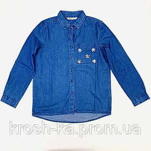 Рубашка для девочки джинсовая Tiffosi Португалия синий 10031107_M10