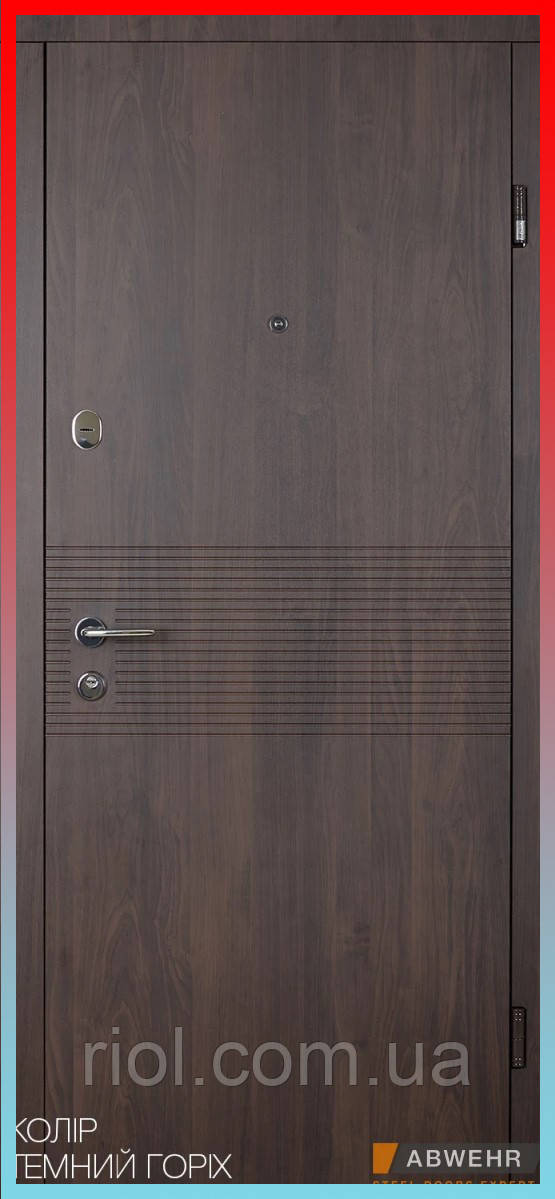 Входные двери модель Miriel (уличная пленка темный орех) комплектация Nova