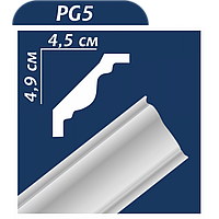 Плинтус потолочный Premium decor PG-5