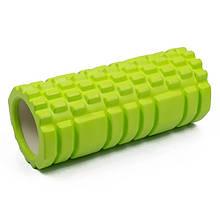 Роллер для массажа спины и разминки мышц, Зеленый с большими секциями, массажный валик/ролик для фитнеса/йоги,