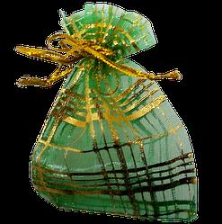 Мішечок для біжутерії 9х6 зелений