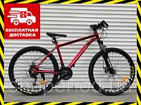 Горный велосипед АЛЮМИНИЙ Топ Райдер 19 рама 29 дюймов колеса В680 красный