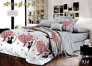 Двуспальное постельное белье Тет-А-Тет (Украина)  ранфорс (914)