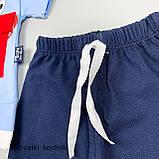 Комплект футболка, шорты голубой Интерлок Babydadoss Турция 74 (р) 86, фото 4
