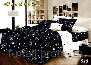Двуспальное постельное белье Тет-А-Тет (Украина)  ранфорс (916)