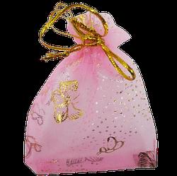 Мішечок для біжутерії 9х6 рожевий