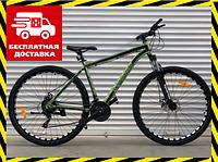 Спортивный горный велосипед АЛЮМИНИЙ Топ Райдер 19 рама 29 дюймов колеса В680 хаки