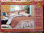 Двуспальное постельное белье Тет-А-Тет (Украина)  ранфорс простынь на резинке (668), фото 3