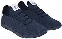 Мужские кроссовки лето сетка для бега спортзала комфорт стильные легкие дышащие синие 44 размер Restime 21169